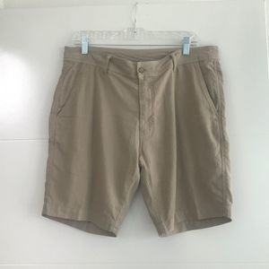 Toscano Linen Cotton Shorts Khaki Size 34
